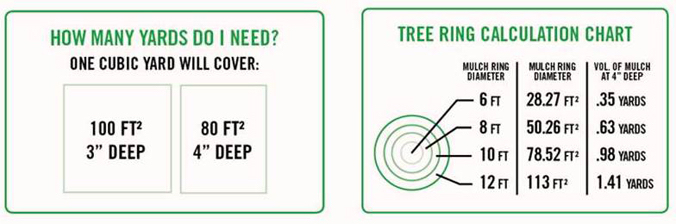 Mulch calculation & Tree Ring Chart